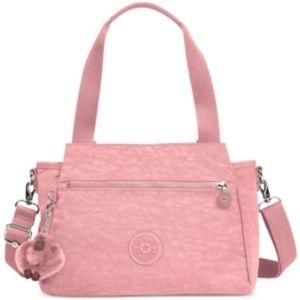 NWT! Kipling Elysia Satchel Strawberry Pink